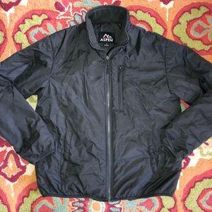 ASPEN gray poly fill jacket/3 pockets/nice cond